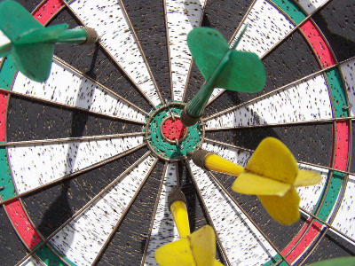 dartboard, setting goals